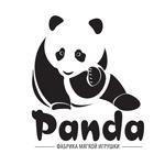Дизайн логотипа с рисованной пандой