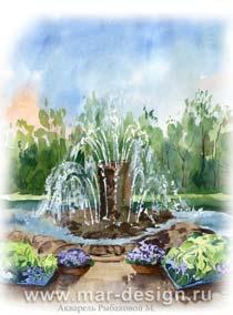 Эксклюзивный календарь с фонтанами