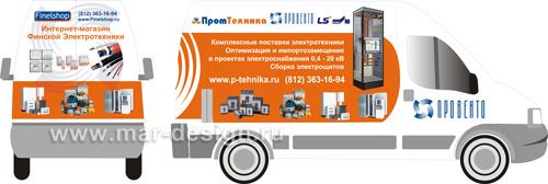 Разработка дизайна оклейки машины на заказ в Санкт-Петербурге.
