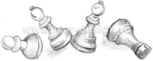 Рисунки шахматных фигур.