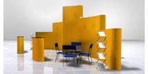 выставочный павильон, конструкции разной высоты