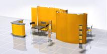 дизайн выставочного павильона 3d