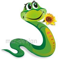 рисованная змея, мультик
