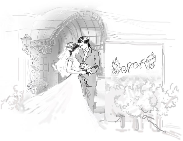 Свадебный баннер фото - идеи оформления, пошаговый мастер 39