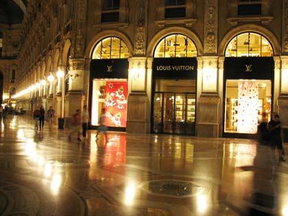 Милан, общий вид галереи Эммануила II