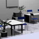 Пример разработки дизайна офиса в 3D