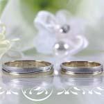 фрагмент Свадебный баннер, ангелочки, кольца